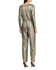 Ralph Lauren - Metallic Crossover Jumpsuit