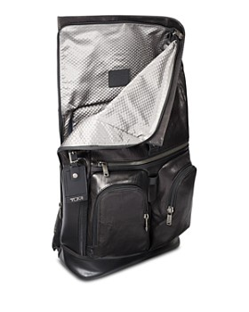 Tumi - Alpha Bravo London Roll-Top Leather Backpack