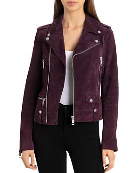 BAGATELLE.NYC - Suede Moto Jacket