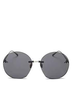 Bottega Veneta - Women's Rimless Round Sunglasses, 50mm