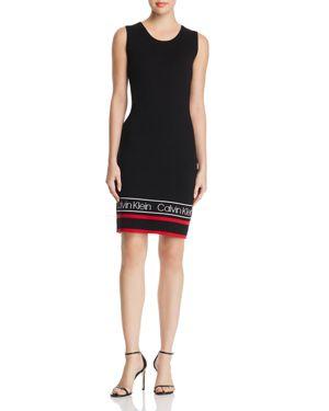Calvin Klein Varsity Hem Sweater Dress
