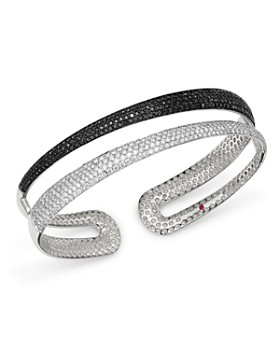 Roberto Coin - 18K White Gold Scalare Black & White Diamond Bangle Bracelet