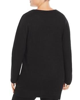 Alison Andrews Plus - Intarsia-Tiger Tunic Sweater