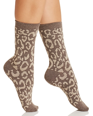 Natori Animal Print Crew Socks