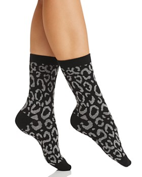 Natori - Animal Print Crew Socks