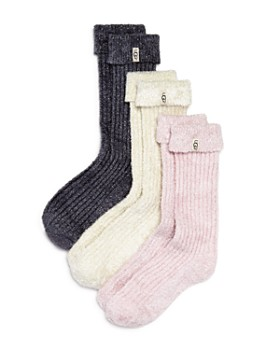 UGG® - Cozy Sparkle Socks Gift Set, Set of 3