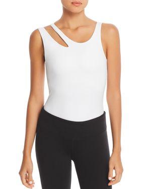 GAIAM X JESSICA BIEL Hudson Cutout Bodysuit in Bright White