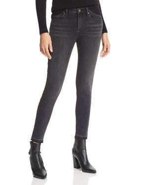 Leopard Track Stripe Skinny Jeans In Black/Leopard - 100% Exclusive