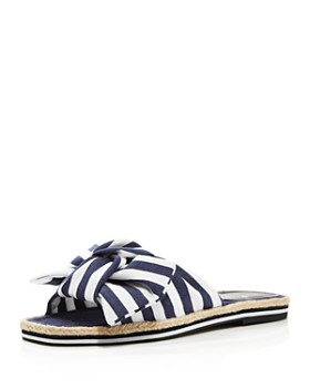 low priced 92d28 5455d kate spade new york - Women s Caliana Striped Bow Flat Sandals ...