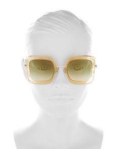 Bottega Veneta - Women's Oversized Square Sunglasses, 51mm