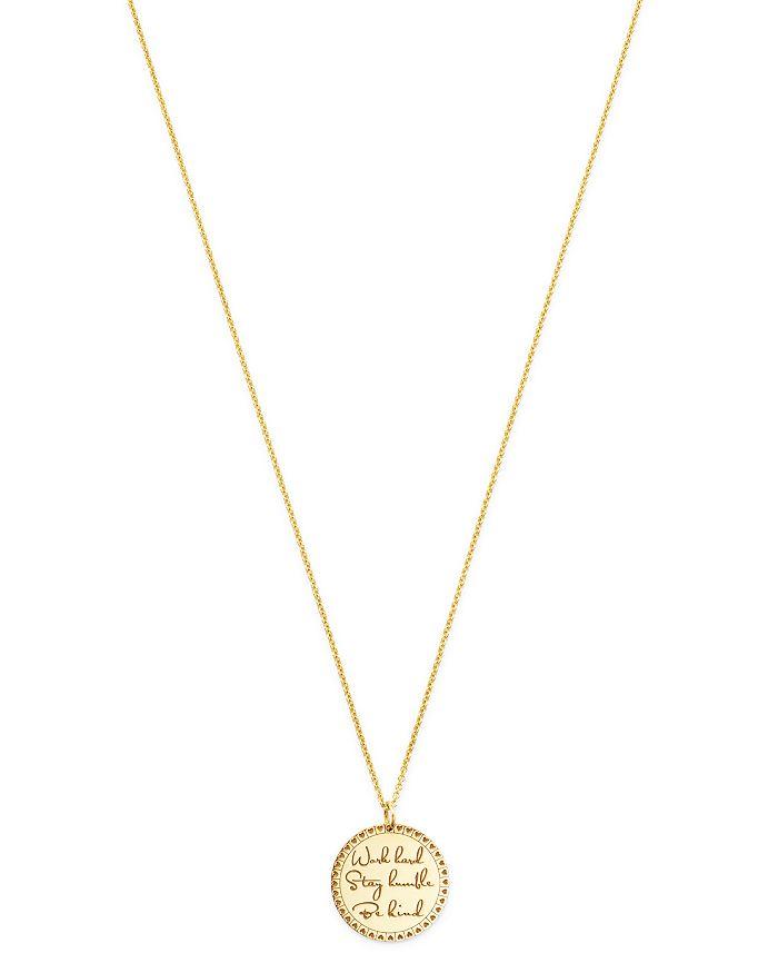 "Zoë Chicco - 14K Yellow Gold Mantra Heart Medium Pendant Necklace, 20"""