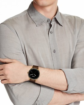 Nixon - Station Brown Leather Watch, 41mm