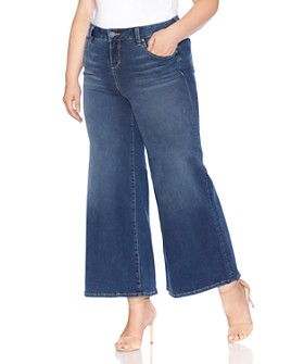 SLINK Jeans Plus - Wide-Leg Jeans in Heather