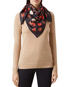 HOBBS LONDON - Hampstead Polka Dot Silk Scarf