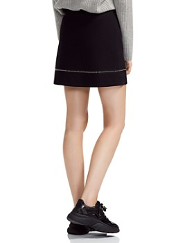 Maje - Jimage Studded A-Line Mini Skirt