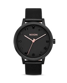 Nixon - Kensington Black Leather Watch, 37mm