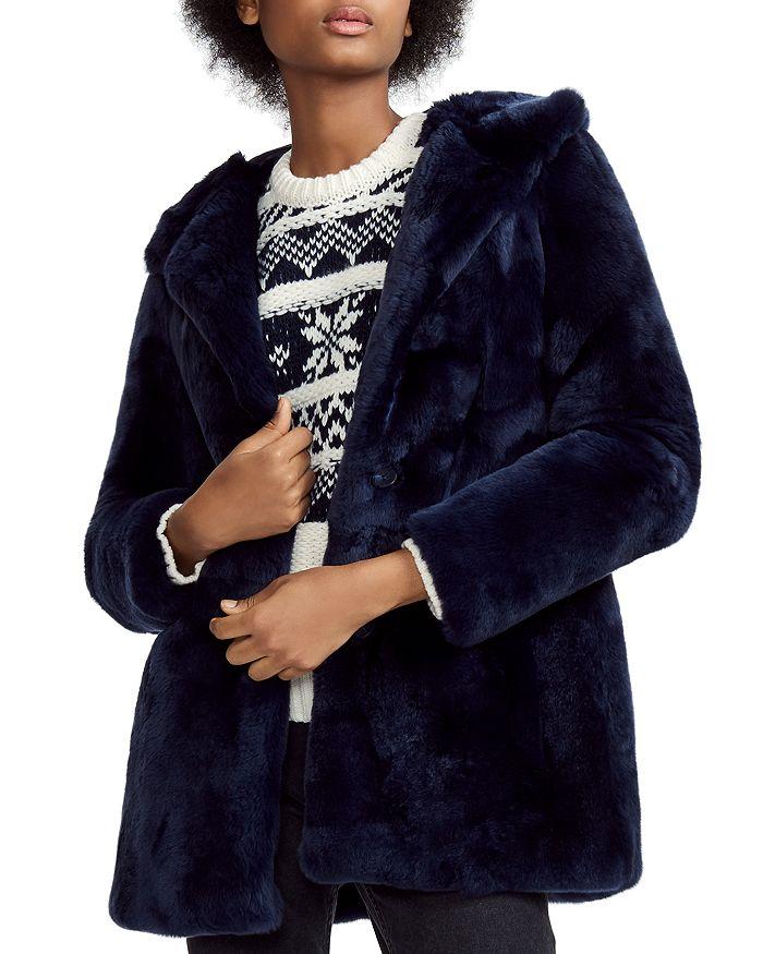 Maje - Real Rabbit Fur Coat