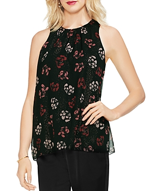 Vince Camuto Regal Stamp Floral Sleeveless Blouse