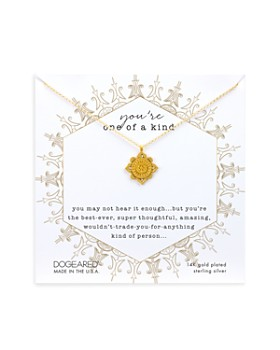 """Dogeared - You're One of a Kind Necklace in 14K Gold-Plated Sterling Silver or Sterling Silver, 18"""""""