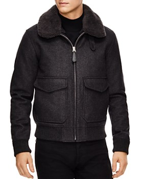 Sandro - Aviator Gray Bomber Jacket