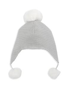 Elegant Baby - Unisex Pom-Pom-Trimmed Knit Aviator Hat - Baby