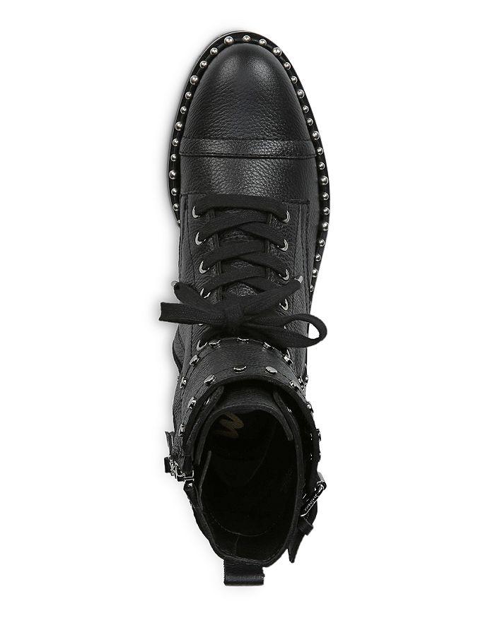 7830cb75b92e66 Sam Edelman Women s Jennifer Studded Leather Combat Booties ...