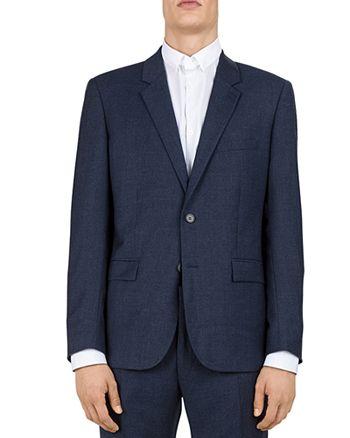 The Kooples - Sea Checks Wool Slim Fit Sport Coat