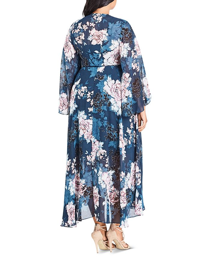 ba95e2c83da City Chic Plus - Jade Blossom Wrap Maxi Dress
