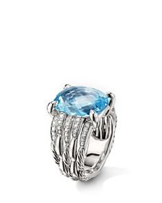 David Yurman - Tides Statement Ring with Blue Topaz & Diamonds