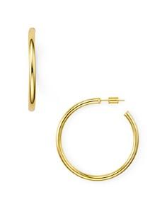 AQUA - Hoop Earrings in 18K Gold-Plated Sterling Silver, 18K Rose Gold-Plated Sterling Silver or Sterling Silver - 100% Exclusive