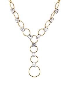 """AQUA - Crystal Loop Lariat Necklace, 16"""" - 100% Exclusive"""