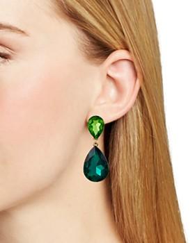 AQUA - Double Teardrop Earrings - 100% Exclusive