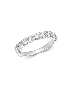 Bloomingdale's Diamond Classic 9-Stone Band in 14K White Gold, 0.90 ct. t.w. - 100% Exclusive