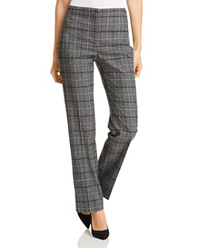 T Tahari - Hazel Plaid Straight-Leg Pants