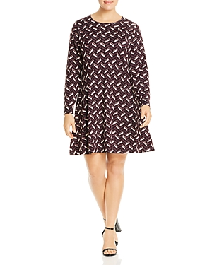 Michael Michael Kors Plus Chevron Flare Dress