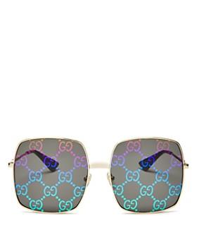 Gucci - Women's Logo Oversized Square Sunglasses, 60mm