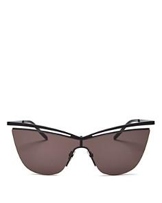 Saint Laurent - Women's Brow Bar Cat Eye Shield Sunglasses, 99mm