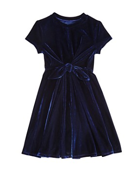 AQUA - Girls' Tie-Front Velvet Dress, Big Kid - 100% Exclusive