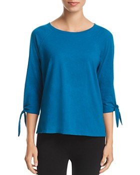 Eileen Fisher - Organic Cotton Tie-Sleeve Tee