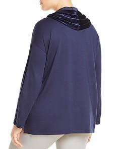 Eileen Fisher Plus - Velvet-Hooded Top