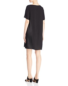 Eileen Fisher - Silk Short Sleeve Shift Dress