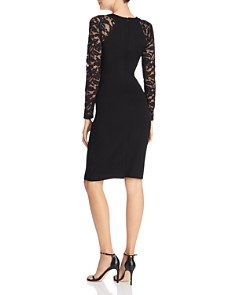 FRENCH CONNECTION - Viven Lace-Sleeve Sheath Dress