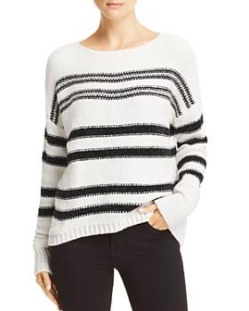 AQUA - Striped Chenille Sweater - 100% Exclusive