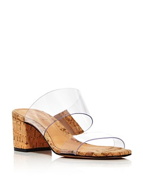 SCHUTZ - Women's Victorie Mid-Heel Slide Sandals