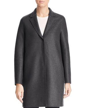HARRIS WHARF Virgin Wool Overcoat in Gray