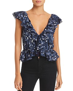 Bardot - Emily Ruffled Floral Print Bodysuit