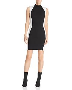 Kendall + Kylie - Contoured Illusion Sheath Dress