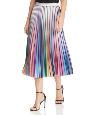Lucy Paris Rainbow Pleated Midi Skirt