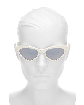 Moschino - Women's Slim Cat Eye Sunglasses, 52mm