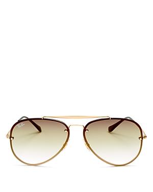 Ray Ban Sunglasses RAY-BAN UNISEX BLAZE BROW BAR AVIATOR SUNGLASSES, 61MM